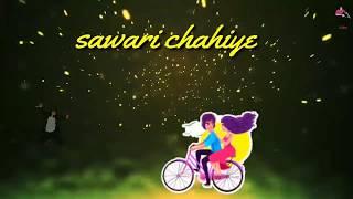 Paidal chal raha hun gadi chahiye   Romantic Whatsapp status video   RV Edits