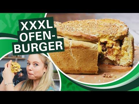 XXXL Ofenburger 🍔  Hamburger/ Cheeseburger selber machen für die ganze Familie