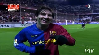 The Day Messi Was Applauded by Sevilla Fans After A Crazy Entertaining Performance ► 2008/2009