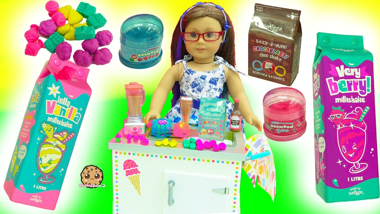 American Girl Milkshake Set Scented Goo Smiggle Erasers
