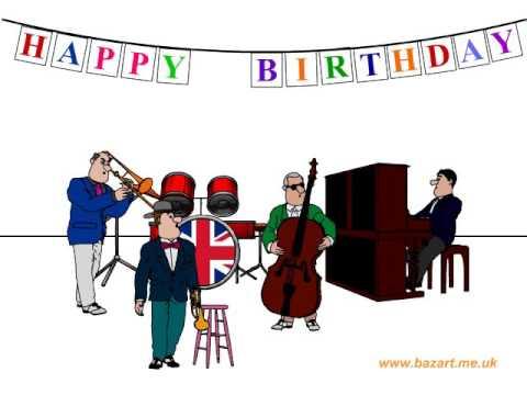 Jazz Happy Birthday Card