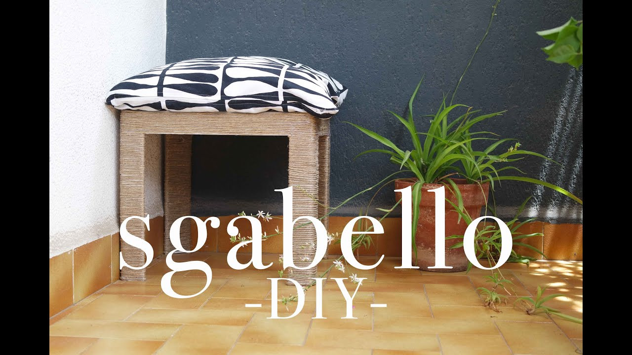 Sgabello da esterno low cost diy casasuperstar youtube