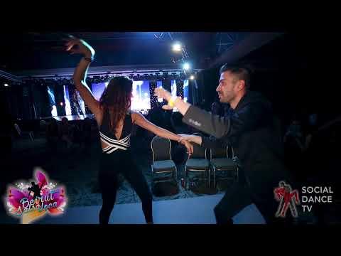 Panagiotis Aglamisis & Penelope Semaan - Salsa social dancing   Beirut Salsa Loca 2018