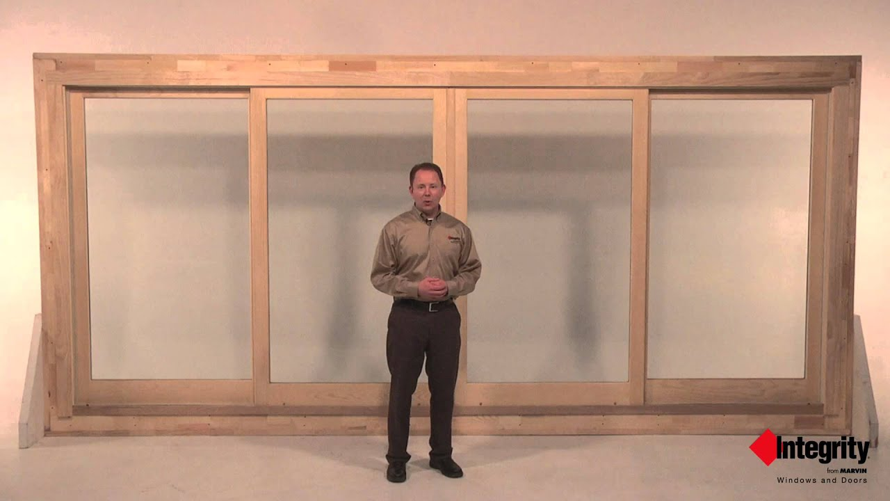 Oxxo four panel sliding french door by integrity youtube for 4 panel sliding french doors