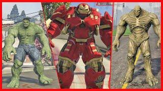 Hulkbuster x Hulk e Abomination. (GTA V PC MOD)