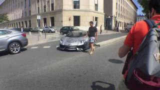 LAMBORGHINI AVENTADOR CRASH IN LYON ! CRASH I REVS FOR MODBALL RALLY