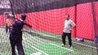Nick Tedesco Hitting Lesson with Kevin Long - Batting Coach of the New York Yankees / New York Mets
