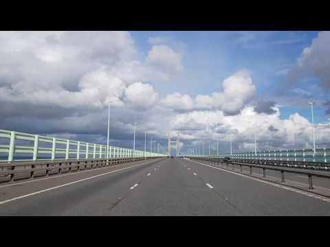 Crossing the Severn Bridge to Rory Gallagher on Samsung Galaxy S8 HD Dashcam