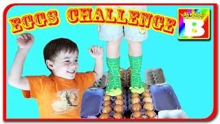 Provocare - mergem pe oua.  Nu sparge oul Challenge la Bogdans`s Show.