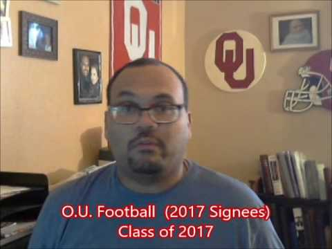O.U. Football - 2017 Signees (Class of 2017)