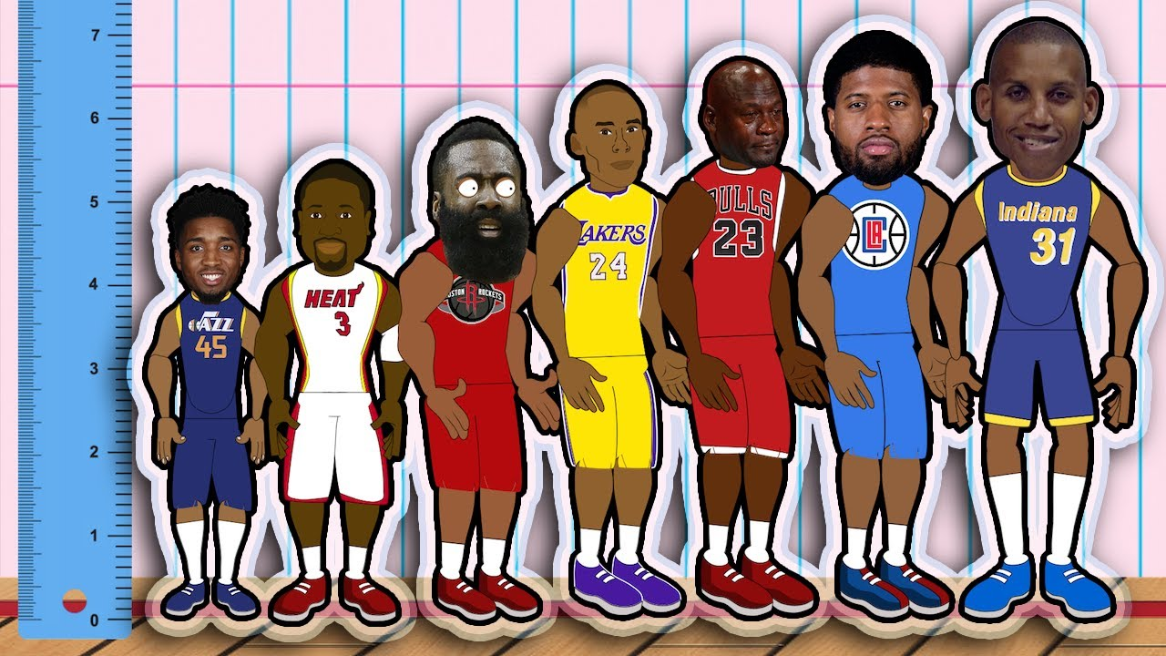 The Best Shooting Guard at Every Height! (NBA Height Comparison Animation)