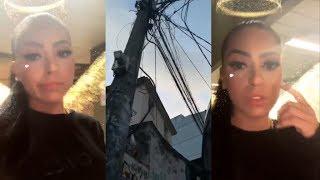 MC Mirella tem casa incendiada e registra o momento pelas redes sociais