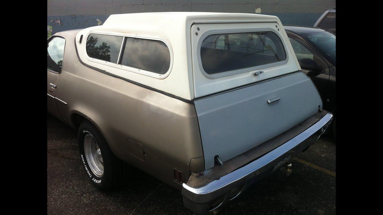 El Camino Chevrolet rare camper shell truck cap 360 ...