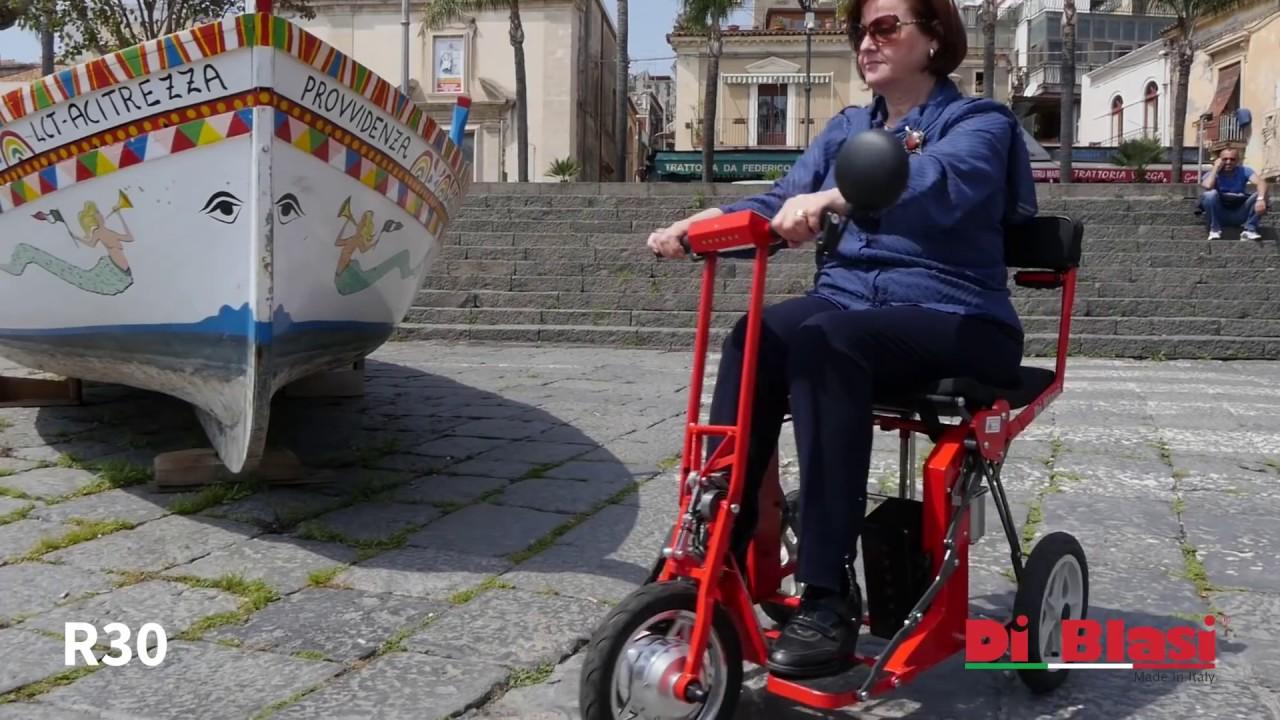 Folding mobility scooter R30 DI BLASI - YouTube
