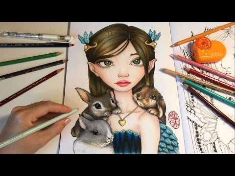 Bunny Keeper - Part 3 | How I Color Bunnies with Colored Pencils