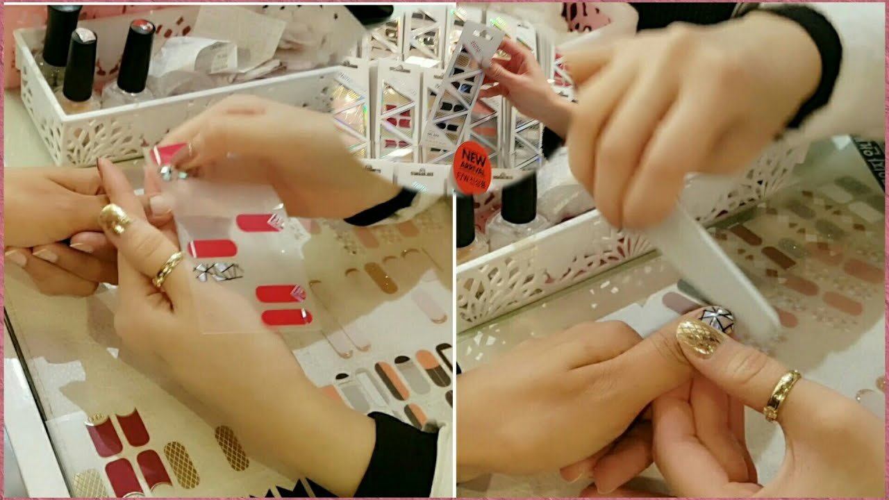 How To Apply Nail Stickers Step By Step Nail Sticker Tutorial Youtube