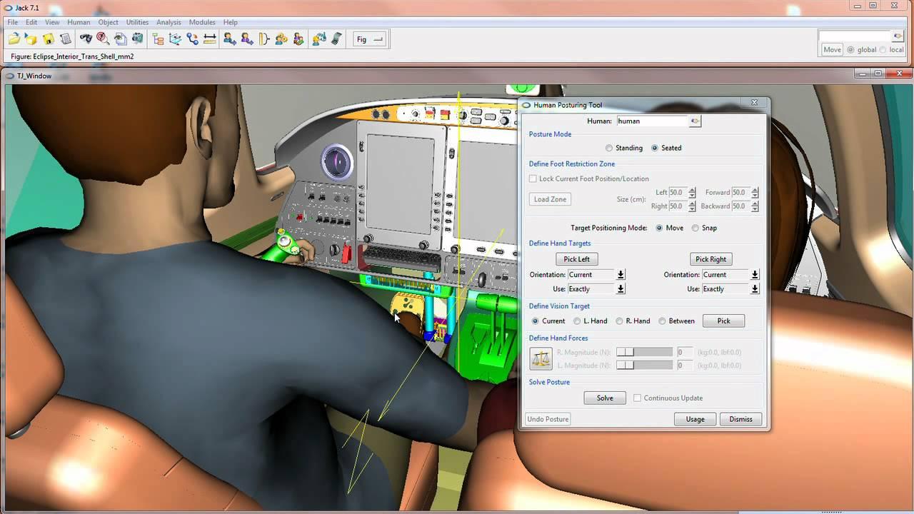 jack 7 1 siemens plm human modeling and simulation tool youtube rh youtube com