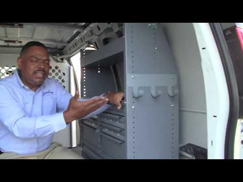Harbor's General Service Package Van Interior Organizes Your Work