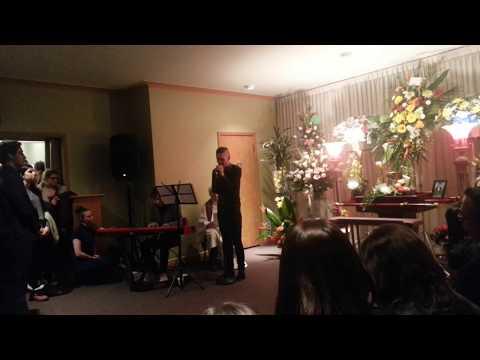 funerailles Luc,chanson Simon Morin