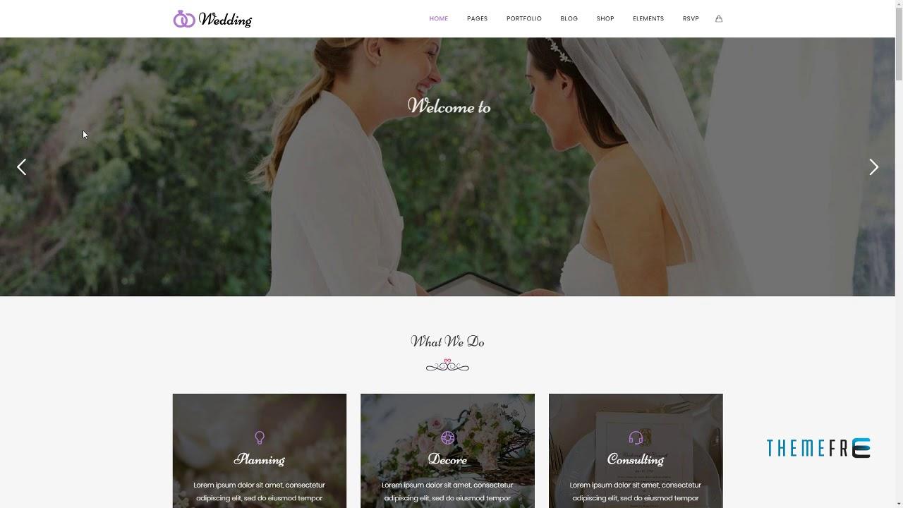 Wedding Wedding And Wedding Planner Wordpress Theme Josh Lin Youtube
