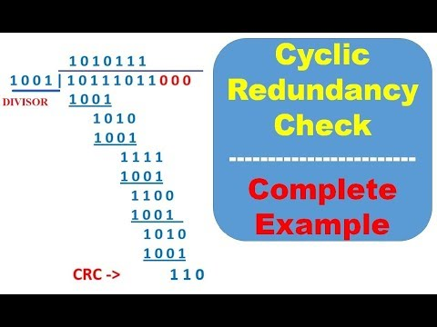 Cyclic Redundancy Check with examples, crc error detection in Data