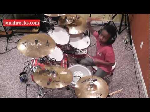 Shinedown - Bully, 7 Year Old Drummer, Jonah Rocks