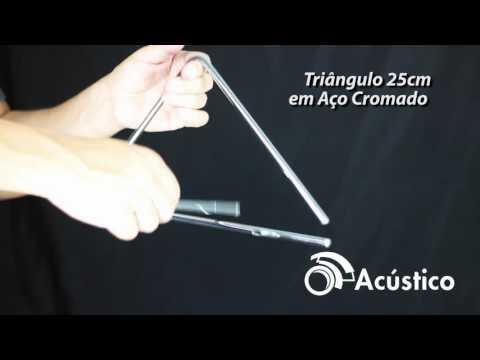Torelli Triângulo 25 cm em Aço Cromado TL 600 - Loja O Acústico