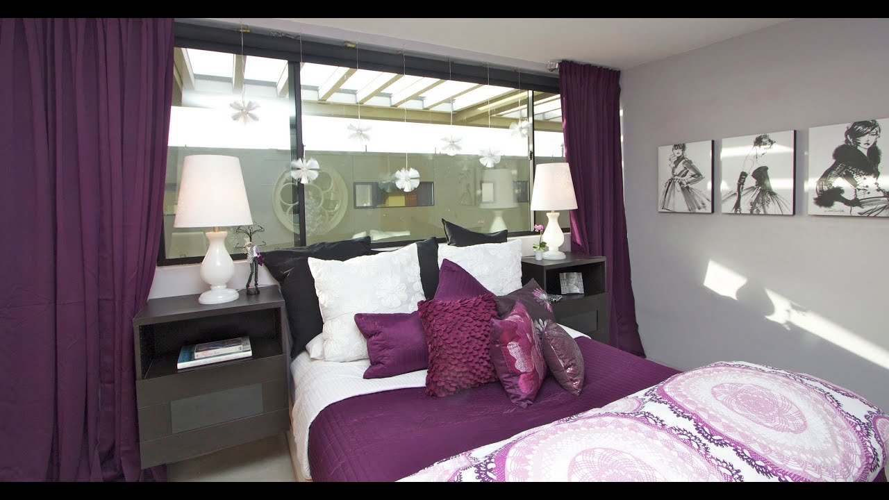 14 Year Old Room Ideas Roomtour In Purple For Stephanie Youtube