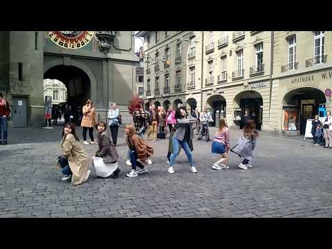 TWICE dancing 'Knock knock' in Bern, Switzerland