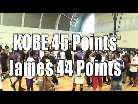 KOBE Bryant 45 points VS James  HARDEN 44 points at the Drew League