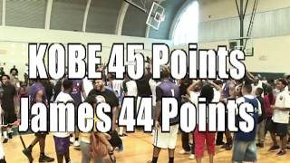 Kobe Bryant 45 points VS James  Harden 44 points at the Drew  Summer League