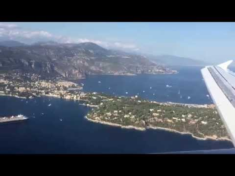 Landing At Nice Airport On The French Riviera: View Between Monaco And Nice
