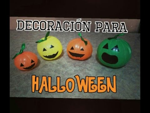 Decoraci n para halloween calabazas de globos youtube - Calabazas decoradas para halloween ...