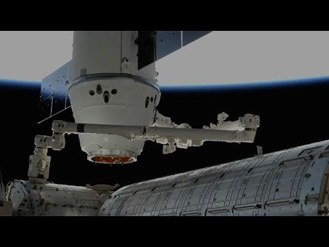 SpaceX CRS-13: Dragon berthing to the ISS, 17 December 2017