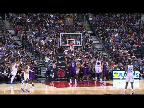 Festus Ezeli & Tyler Hansbrough FIGHT   Warriors vs Raptors   Feb 27, 2015   NBA 2014 15 Season