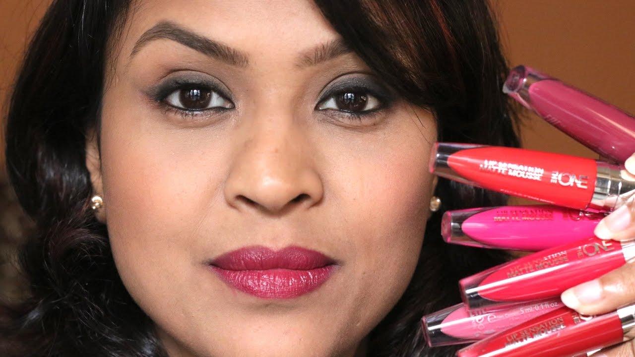 Oriflame The One Lip Sensation Matte Mousse Liquid Lipsticks Review