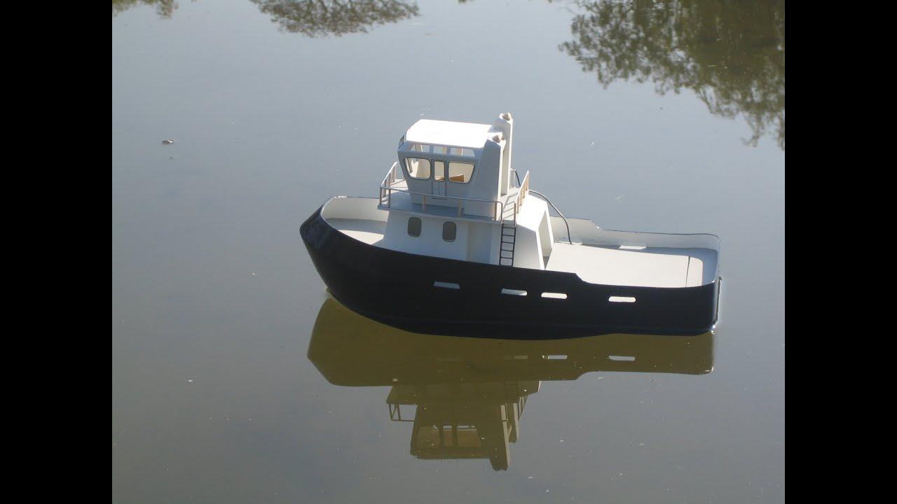 How to make a Model Tug Boat - YouTube