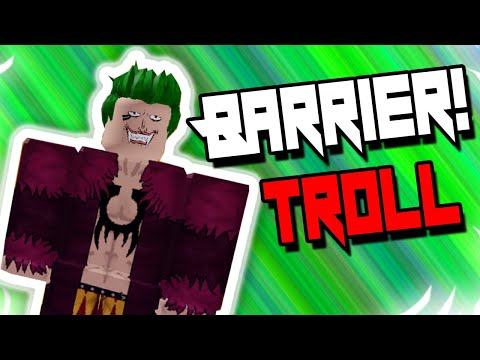 THE PERFECT WAY TO USE BARRIER | BLOXPIECE | ROBLOX | BARRIER DEVILFRUIT TROLLING