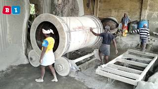 giant cement pipe making process, cement pipe manufacturing,concrete pipe manufacturing,