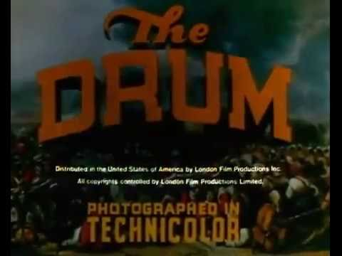 """Opening credits to the movie """"The Drum"""" (1938; 104 min)"""