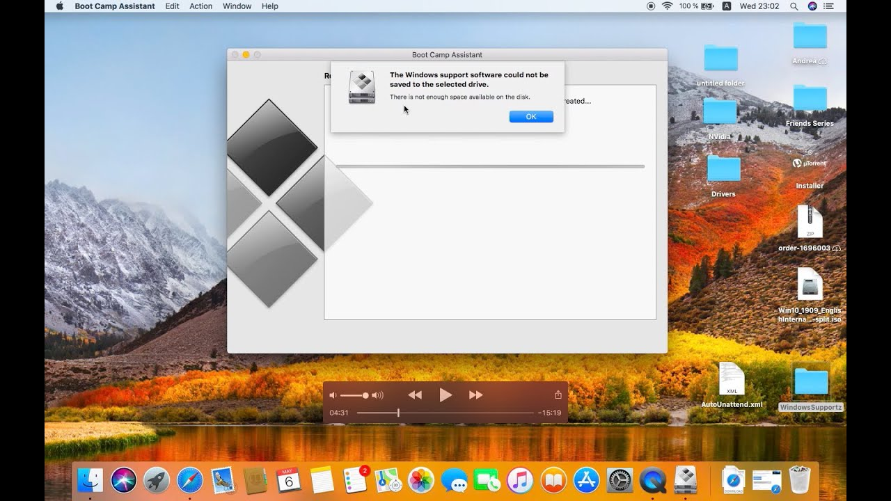 How To Install Windows 10 On Mac When Bootcamp Fails Copying Installation Files All Error Fixes Youtube
