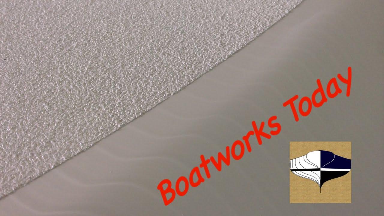 Applying awlgrip nonskid using soft sand rubber youtube for Boat non slip deck paint
