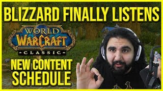 BLIZZARD FINALLY LISTENED! CLASSIC WOW CONTENT RELEASE CHANGED!! PROGRESSIVE ITEMIZATION CONFIRMED!!