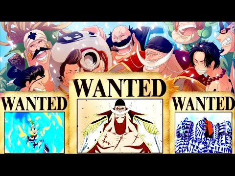 One Piece - Whitebeard's Crew Bounties/Wanted ...