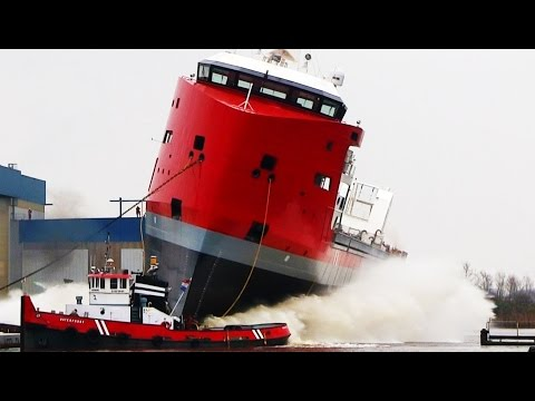 Ship Launch EGBERT WAGENBORG (Easy Max BN 850) for Royal Wagenborg at Niestern Sander