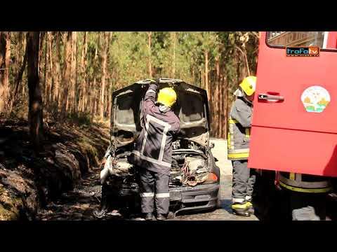 Carro arde em Covelas