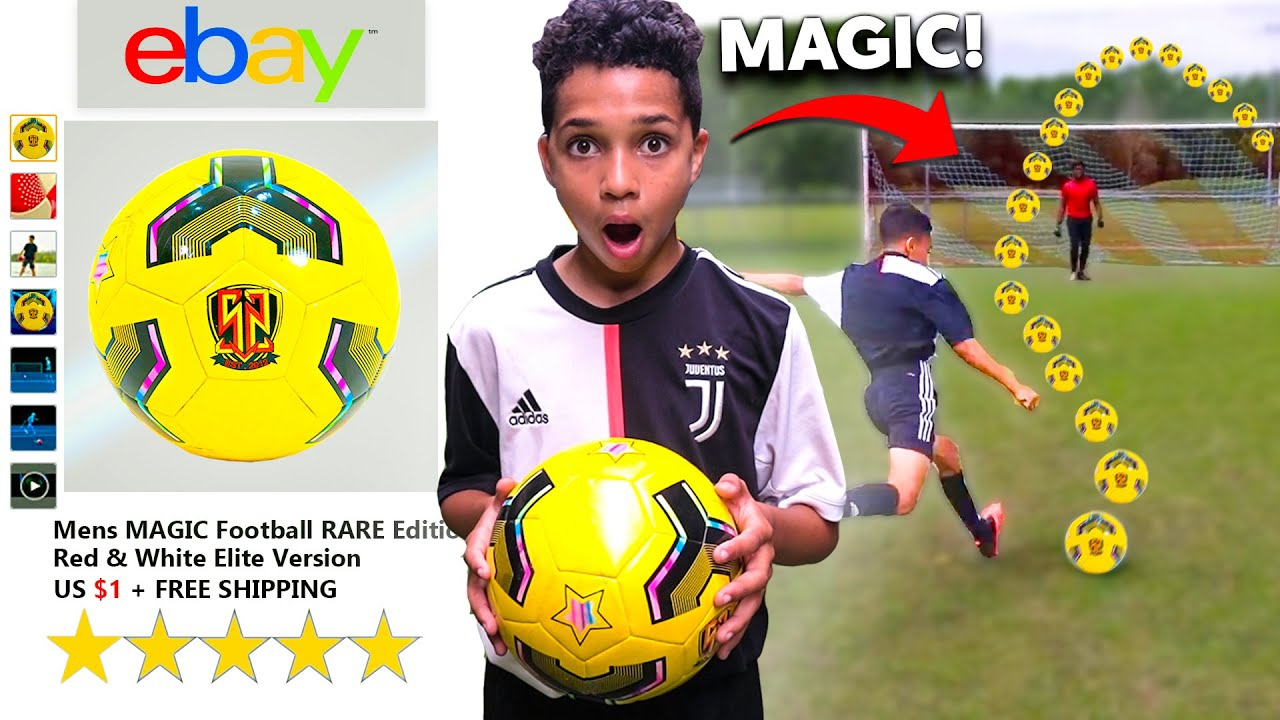 I Bought a MAGIC Football for KID RONALDO.. IT WORKED!! PLay Like MESSI, NEYMAR & POGBA (eBay)