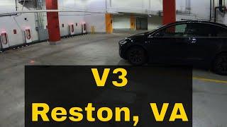 Reston, VA - Tesla Supercharger Review - V3 Supercharger