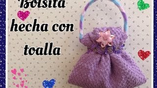 Repeat youtube video BOLSITA HECHA CON UNA TOALLITA FACIAL .- HANDBAG MADE WITH WASHCLOTH.