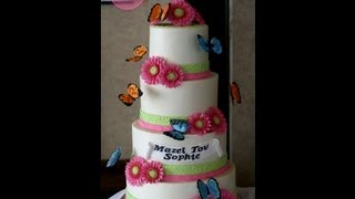 Smooth Buttercream Finish Tutorial, plus stacking a 4 tier cake